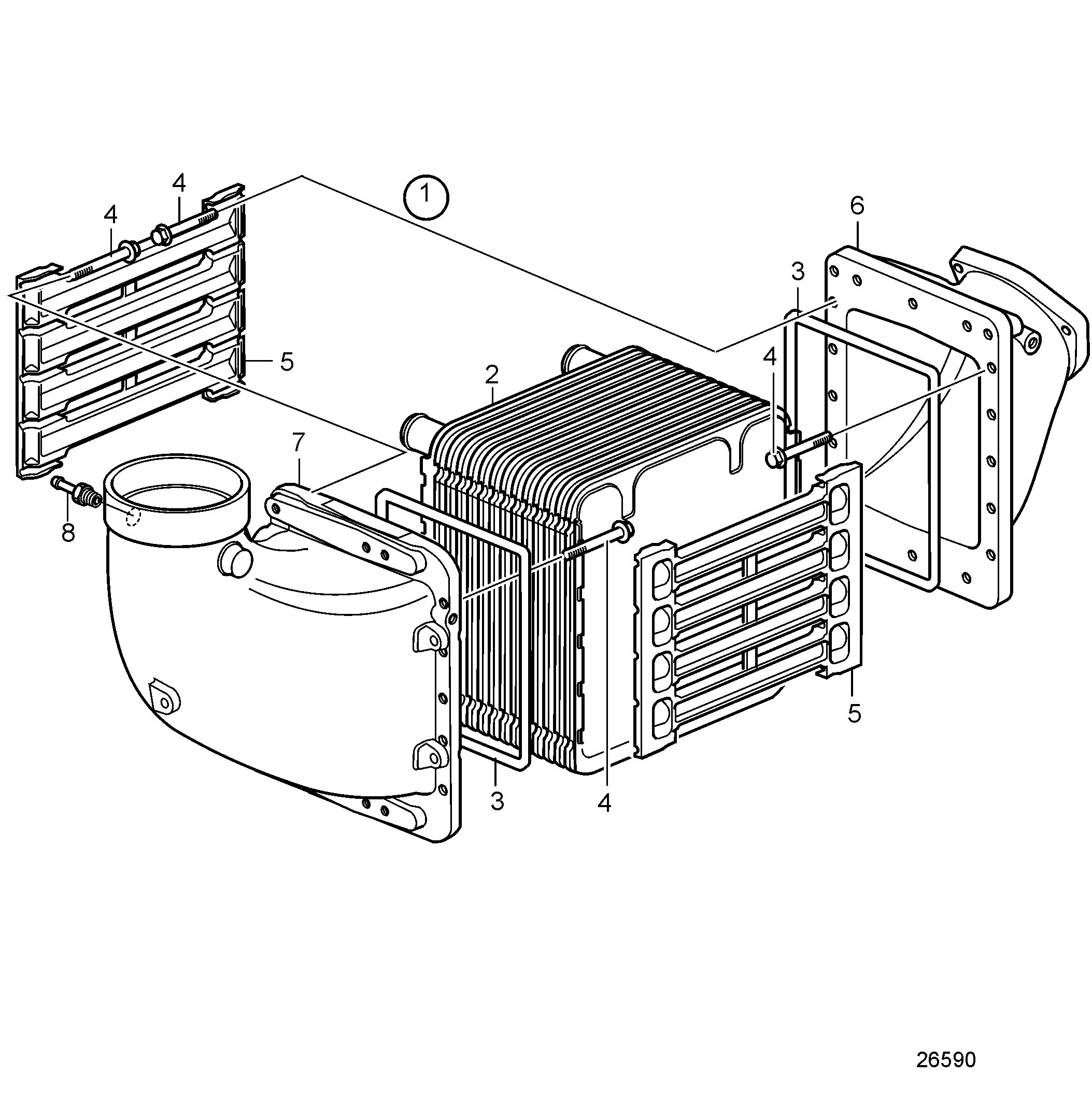 Charge Air Cooler, High Pressure