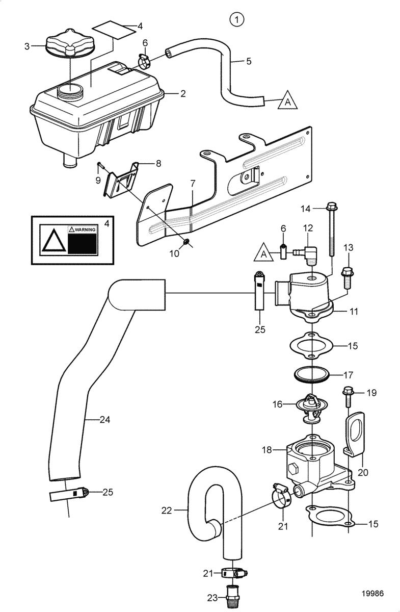 moteurs volvo penta syst me de refroidissement pompe de. Black Bedroom Furniture Sets. Home Design Ideas