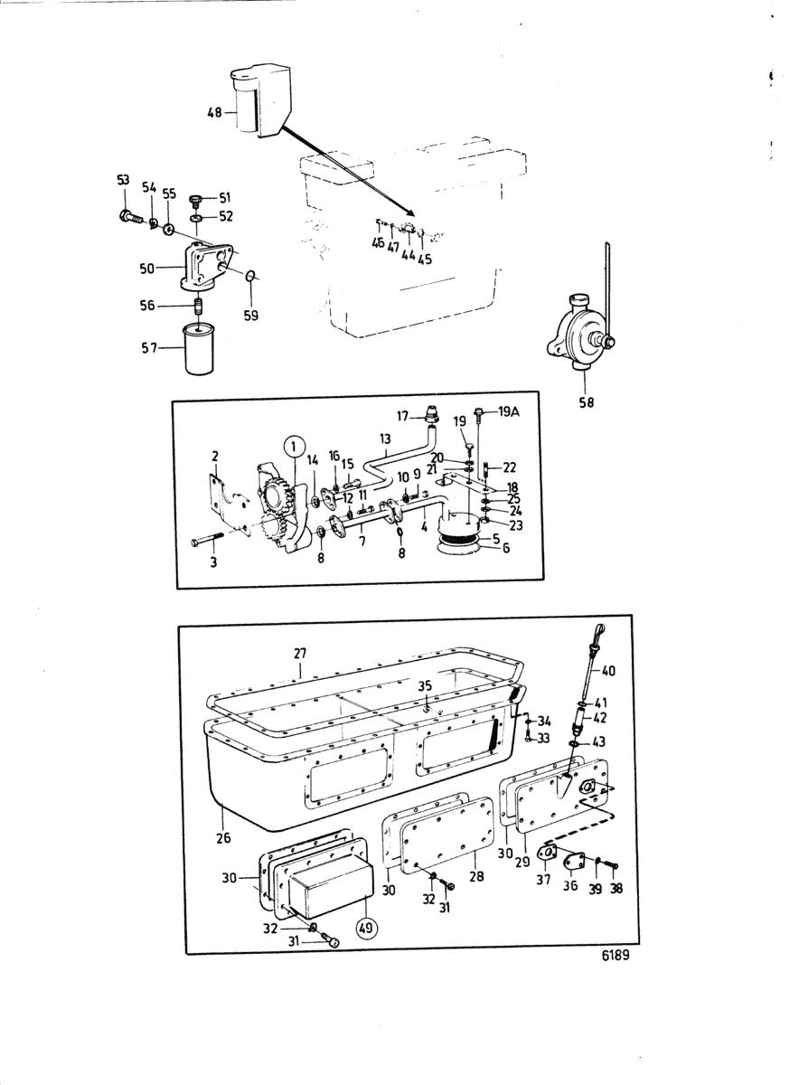 moteurs volvo penta moteur systeme de lubrification a. Black Bedroom Furniture Sets. Home Design Ideas