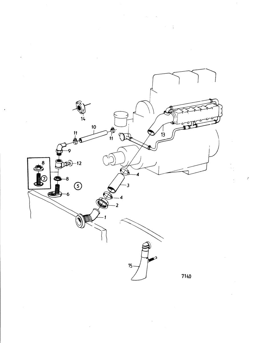 moteurs volvo penta equipements divers tuyau d 39 echappement exterieur et coude d 39 echappement. Black Bedroom Furniture Sets. Home Design Ideas