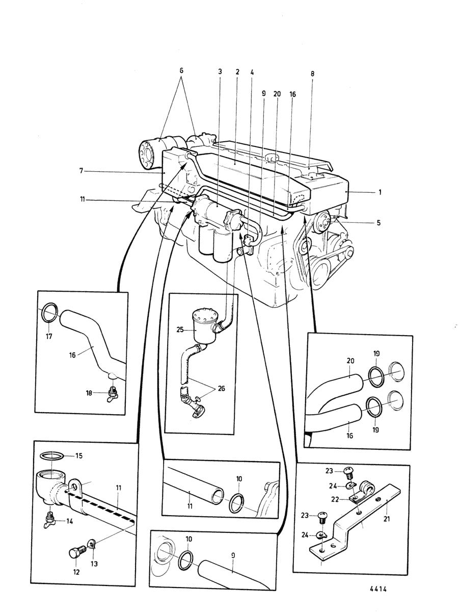 moteurs volvo penta syst me de refroidissement systeme de refroidissement collecteurs d. Black Bedroom Furniture Sets. Home Design Ideas