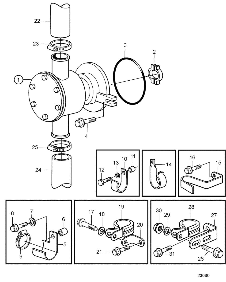 moteurs volvo penta syst me de refroidissement pompe eau de mer. Black Bedroom Furniture Sets. Home Design Ideas