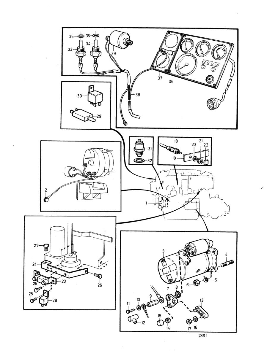 Volvo Penta Aqad40b Wiring Diagram Automotive 1996 Starter Moteurs Equipements Divers Kit De Trim