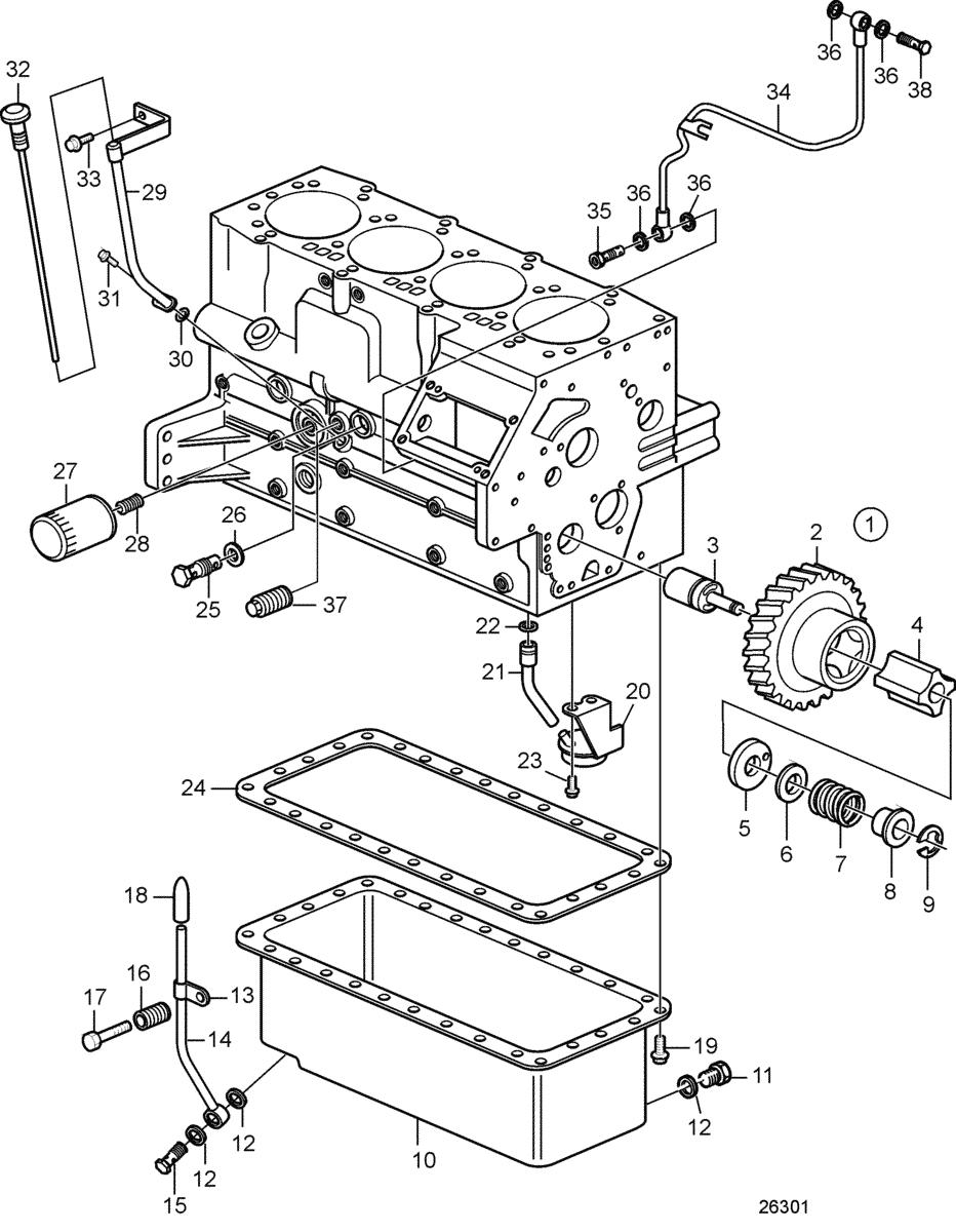 moteurs volvo penta syst me de lubrification syst me de lubrification. Black Bedroom Furniture Sets. Home Design Ideas