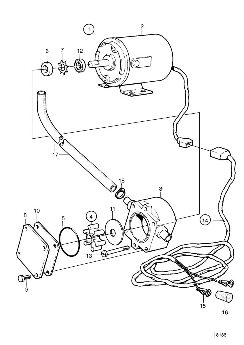 moteurs volvo penta syst me de lubrification pompe electrique de vidange d 39 huile 12v. Black Bedroom Furniture Sets. Home Design Ideas