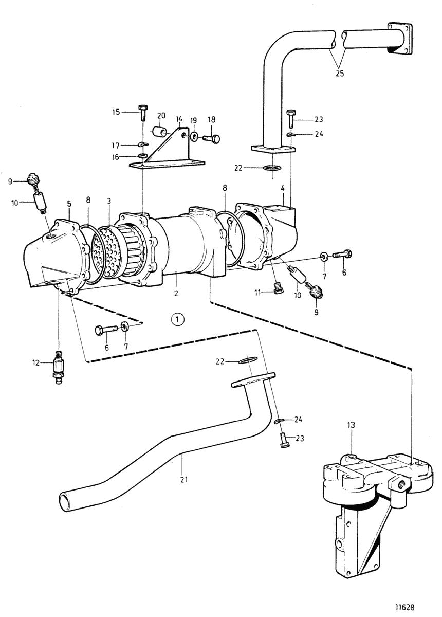 moteurs volvo penta syst me de refroidissement refroidisseur d 39 huile moteur. Black Bedroom Furniture Sets. Home Design Ideas