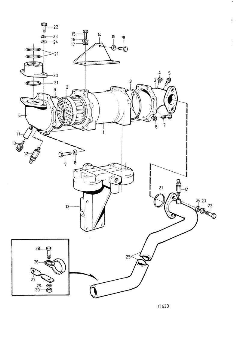 moteurs volvo penta syst me de refroidissement refroidisseur d 39 huile pour moteur avec. Black Bedroom Furniture Sets. Home Design Ideas