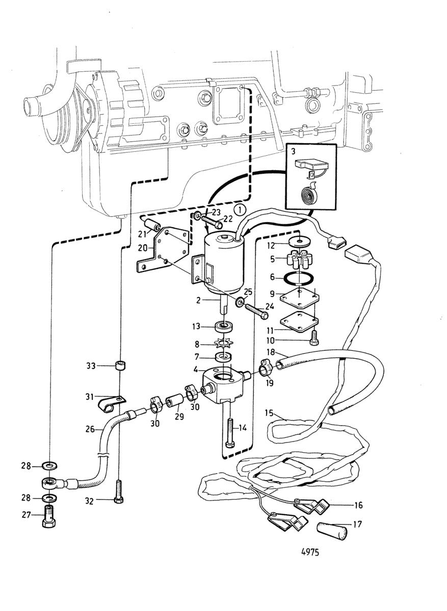moteurs volvo penta moteur pompe electrique de vidange d 39 huile et pieces de montage b. Black Bedroom Furniture Sets. Home Design Ideas