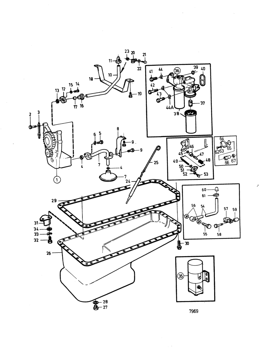 moteurs volvo penta moteur systeme de lubrification b. Black Bedroom Furniture Sets. Home Design Ideas