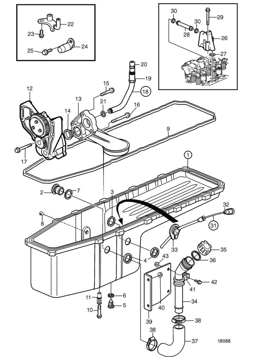 moteurs volvo penta syst me de lubrification syst me de lubrification sn 2012427926. Black Bedroom Furniture Sets. Home Design Ideas