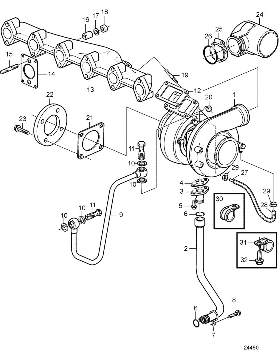 volvo 940 turbo joint de collecteur d'échappement installer